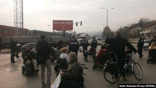 Blokada puta, foto: Maja Bjelajac