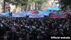 Սերժ Սարգսյանի համակիրները Իջեւանում
