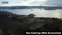 Вид с Радиогорки на Севастопольскую бухту, 9 января 2020 года