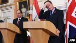 Британ премьери Кэмерон Египеттин президенти ал-Сиси менен. Лондон, 5-ноябрь, 2015-жыл.