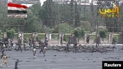 Место теракта в Сане