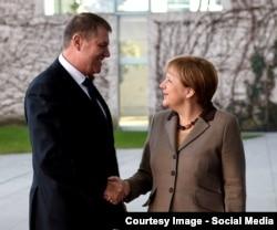 La întlnirea cu Angela Merkel
