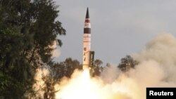 A surface-to-surface Agni V missile was first launched by India in mid-April 2012, from Wheeler Island off the eastern Indian state of Odisha.