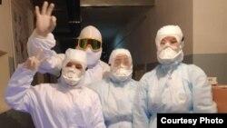 Медики Джалал-Абадской области, работающие с зараженными коронавирусом, 26 марта 2020 г.