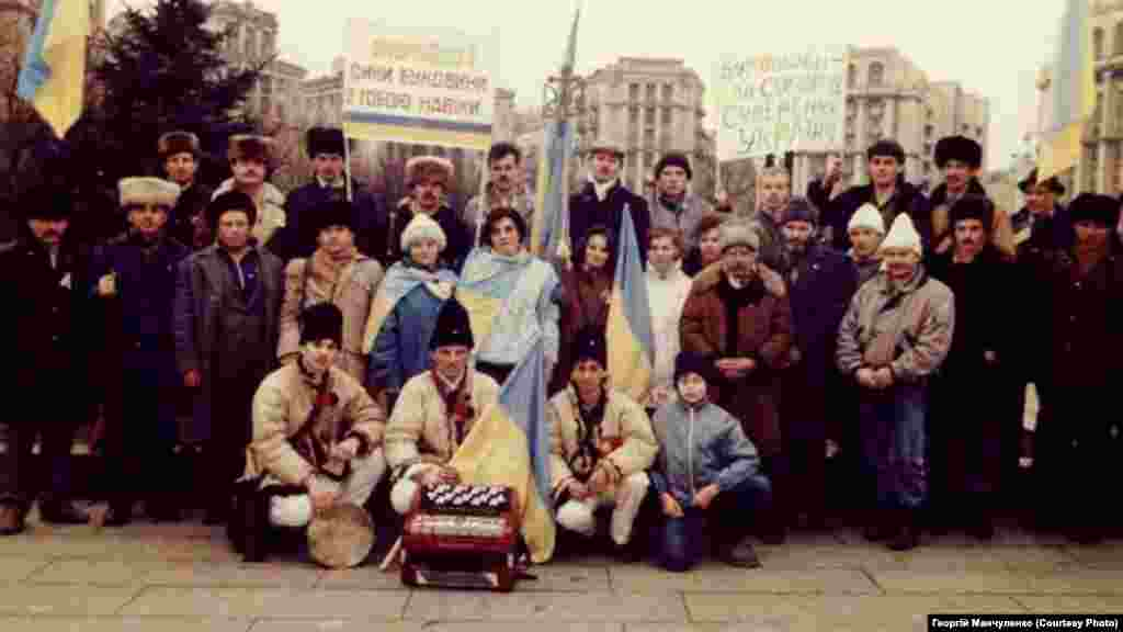 Киев. Буковинцы тоже присоединились к «Живой цепи». Фото Георгий Манчуленко