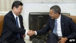 Presidenti Barak Obama pret nënpresidentin kinez, Xi Jinping, Uashington, 14 shkurt 2012
