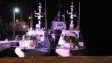 Zelenskıy, Rusiye zapt etken ukrain gemilerini qarşıladı (video)