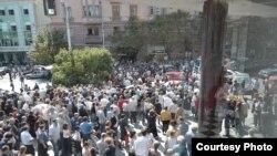 Акцыя пратэсту ў Тбілісі, 19 верасьня 2012 году