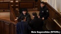 Михаил Каландия в зале суда