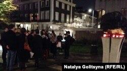 Акция в Лондоне в День памяти жертв сталинских репрессий (30 октября 2014 года)