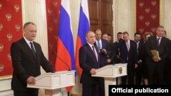 İgor Dodon və Vladimir Putin