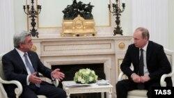 Президенты Армении и России, Серж Саргсян и Владимир Путин (архив)