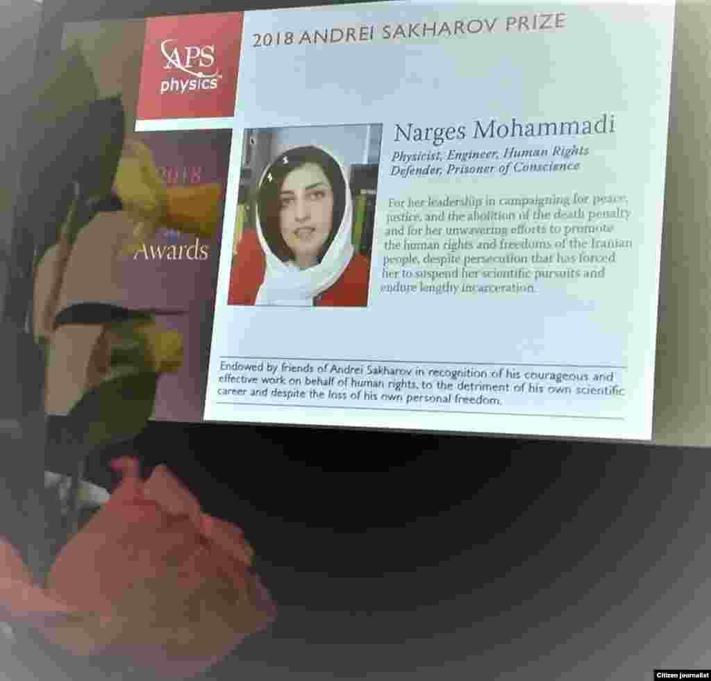 USA--Sakharov award for Narges Mohammadi