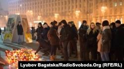 У цэнтры Кіева прайшоў мітынг у памяць па ахвярах у Марыюпалі