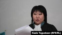 Елена Кван, судья Бостандыкского районного суда. Алматы, 1 марта 2013 года.