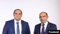 ԼՀԿ անդամ Ստեփան Ստեփանյան (ձախից) և կուսակցության նախագահ Էդմոն Մարուքյան (աջից)