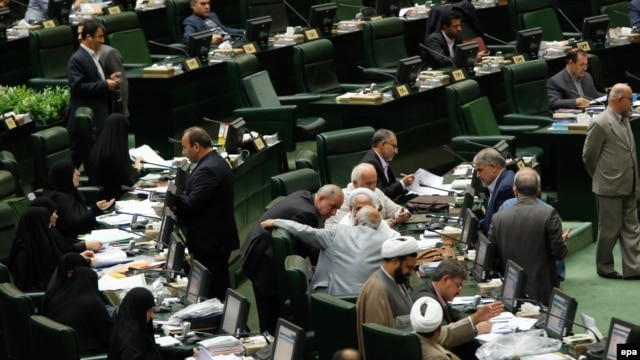The nine women in the Iranian parliament make up about 3 percent of the legislature, far below what the Swiss-based Inter-Parliamentary Union says is a worldwide average of about 22 percent.