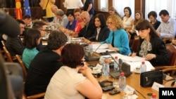 Архивска фотографија: Седница на Националниот совет за евроинтеграции.