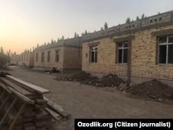 Новые коттеджи, строящиеся в селе «Байткурган».