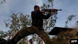 یکی از شورشیان گروه فيلق الرحمان