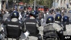 Столкновения между противниками гей-парадов и полицией