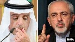محمدجواد ظریف و عادل الجبیر، وزرای خارجه ایران و عربستان سعودی