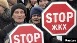 Жители Архангельска протестуют против роста тарифов ЖКХ (28.03.2010)