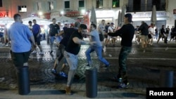 England fans have been involved in distrubances in France over the past two nights.