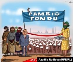 """Pambıq"". Karikatura. Gündüz Ağayev."