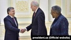Президент Мирзиëев 26 март куни Афғонистон бўйича халқаро конферецияга келган АҚШ делегацияси раҳбарини қабул қилган эди.