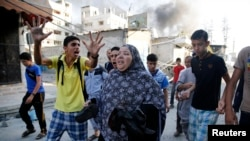 Во время обстрела сектора Газа