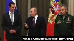 Putin Assad bilen duşuşdy