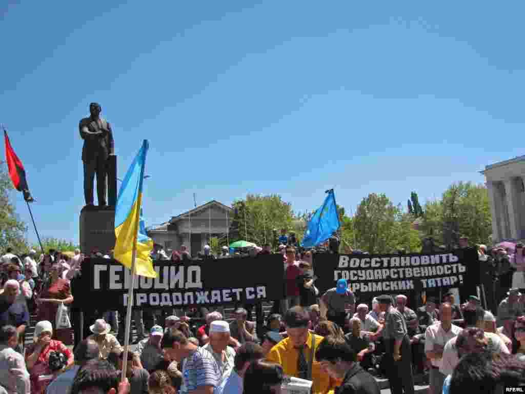 Під час жалобного мітингу у Сімферополі