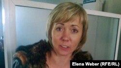 """Наталья Вернадская, журналист газеты """"Зеркало"""". Темиртау, 7 ноября 2012 года."""