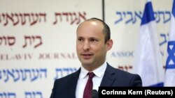 Israeli Education Minister Naftali Bennett, from the Jewish Home party, delivers a statement in Tel Aviv, Israel December 29, 2018.