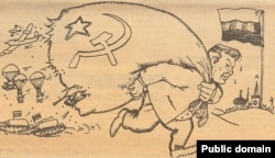 Карыкатура з газэты Свабода, 1992, мастак Сяргей Харэўскі