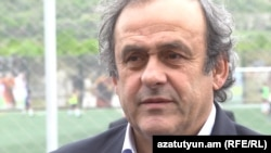 Armenia -- UEFA President Michelle Platini in Yerevan. 21May, 2015