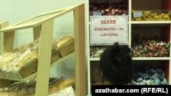В объявлении, размещенном в продовольственном магазине в Ашхабаде сообщается о том, что норма отпуска составляет 1 килограмм сахара в руки (архивное фото)
