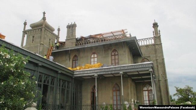 Воронцовский дворец в Алупке, 7 июня 2019 года