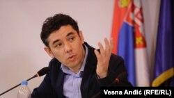 Mehmet Koksal na pres-konferenciji u Beogradu