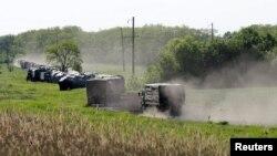 Российская военная техника рядом с украинской границей 24 мая 2015 г.