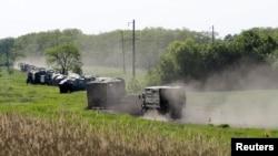 Российская военная колонна у границы с Украиной