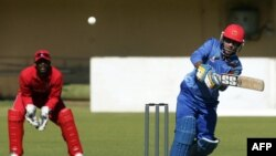 Afghanistan's Noor Ali Zadran playing against Zimbabwe. (file photo)