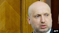 Украинскиот привремен претседател Олександар Турчинов