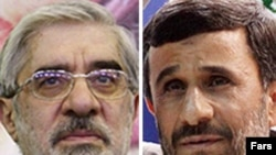 The main contenders: Musavi and Ahmadinejad