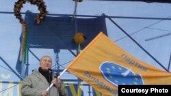 Прамова перад абаронцамі кіеўскага Майдану Незалежнасьці