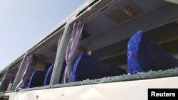 Пошкоджений вибухом автобус, 19 травня 2019 року