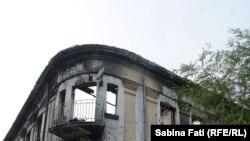 Mariupol, Ucraina 2016. Casa distrusă în cursul ultimelor lupte