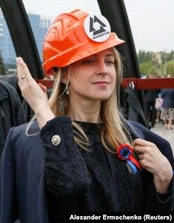 Наталья Поклонская на выставке к «пятилетию ДНР». Донецк, май 2019 года