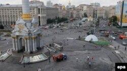 Pamje e qendrës së Kievit në Ukrainë